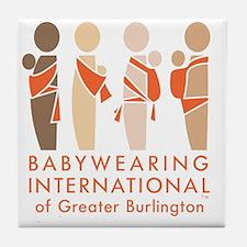 Cute Babywearing Tile Coaster