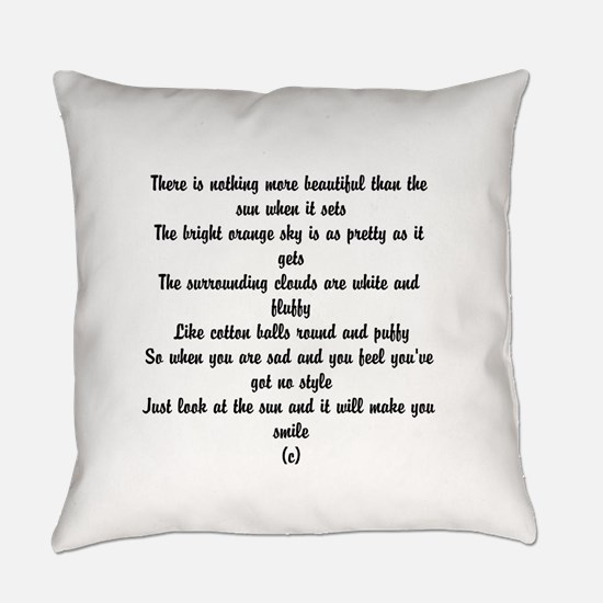 Poem about summer Everyday Pillow