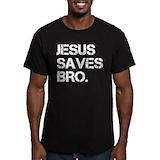 Jesus Fitted T-shirts (Dark)