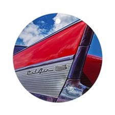 Red Bel Air Round Ornament