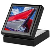 1956 chevy bel air Square Keepsake Boxes