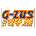 G-ZUS LOVES ME Rectangle Sticker