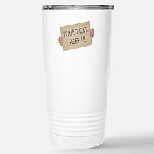 Cardboard Sign Template Stainless Steel Travel Mug