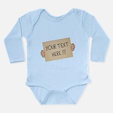 Cardboard Sign Templat Long Sleeve Infant Bodysuit