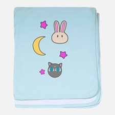 Chibi Usa Sailor Moon Bunnies and Lun baby blanket