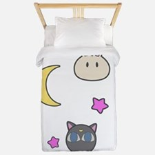Chibi Usa Sailor Moon Bunnies and Luna Twin Duvet