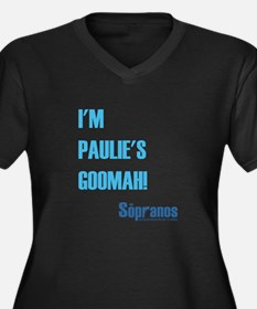 I'M PAULIE'S Women's Plus Size V-Neck Dark T-Shirt
