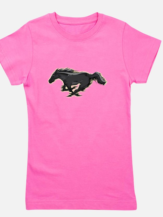 Cute Mustang horse Girl's Tee
