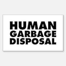 Human Garbage Disposal Sticker (Rectangle 10 pk)