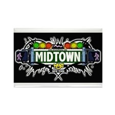 Midtown (Black) Rectangle Magnet