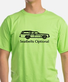 Funny Cool Car Seatbelts Opti T-Shirt