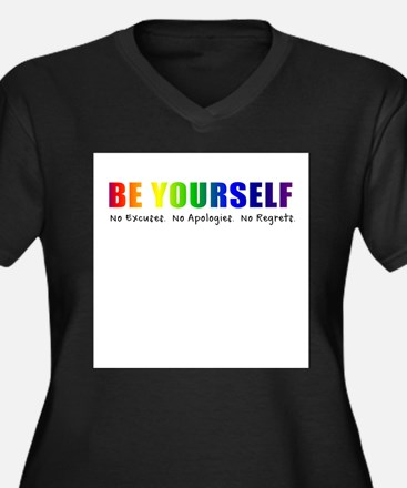 Be Yourself (Rainbow) Plus Size T-Shirt