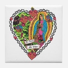 Guadalupe Heart Tile Coaster