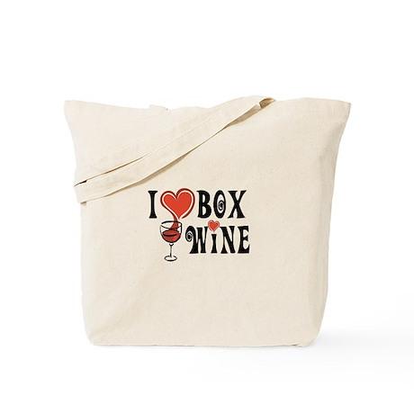 I Heart Box Wine Tote Bag