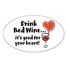 Red Wine Oval Decal