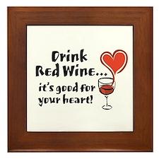Red Wine Framed Tile
