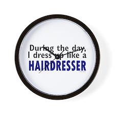 Dress Up Like A Hairdresser Wall Clock