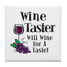 Wine Tasting Tile Coaster
