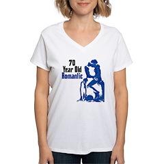 70 Year Old Romantic, 70th Shirt