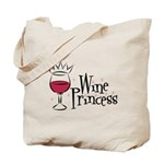 Wine Princess Tote Bag