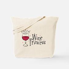 Wine Princess Tote Bag