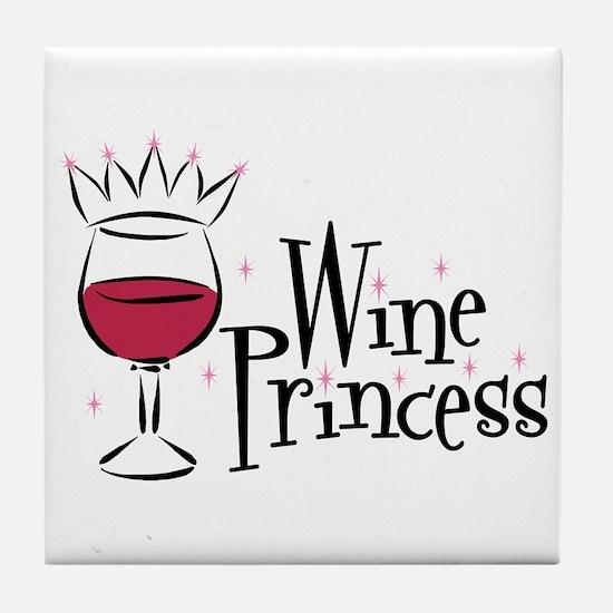 Wine Princess Tile Coaster
