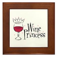 Wine Princess Framed Tile