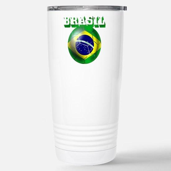 Brasil Football Travel Mug