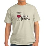 Wine Princess Ash Grey T-Shirt