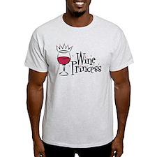 Wine Princess Ash Grey T-Shirt
