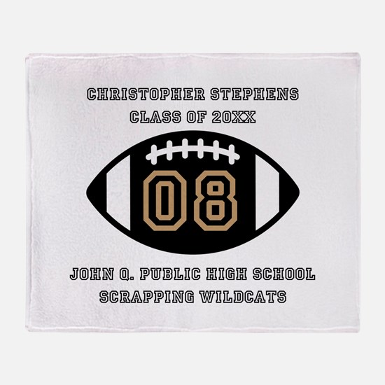 Custom Football Player Name   Class Throw Blanket