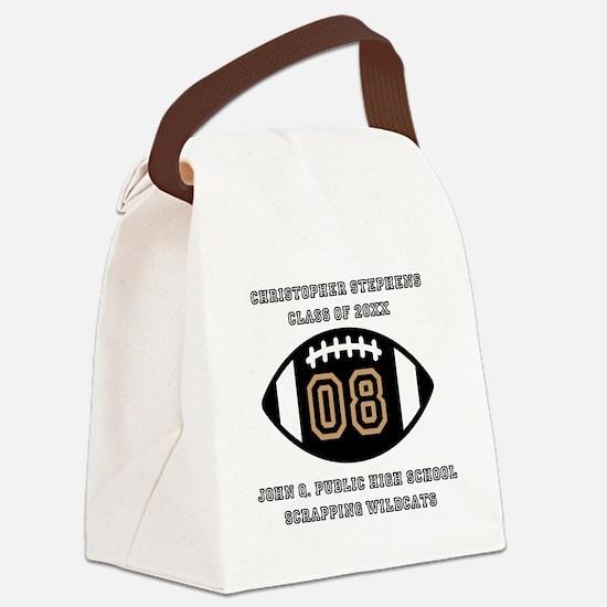 Custom Football Player Name   Cla Canvas Lunch Bag