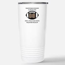 Custom Football Player Stainless Steel Travel Mug