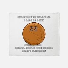 Custom Basketball Player Name   Numb Throw Blanket