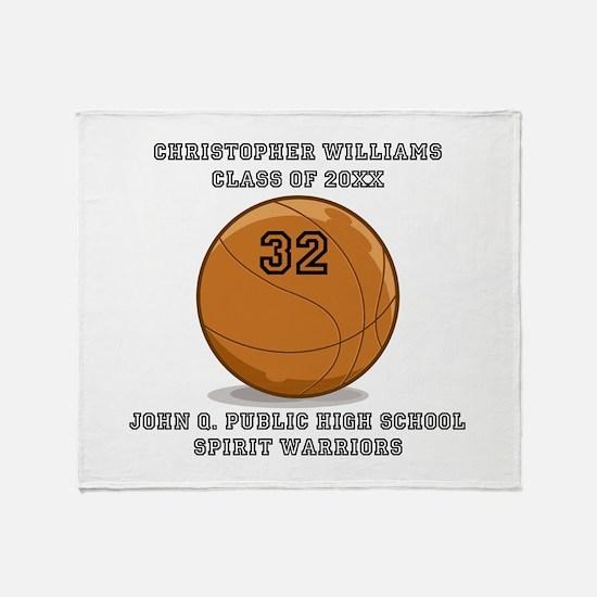 Custom Basketball Player Name | Numb Throw Blanket