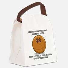 Custom Basketball Player Name | N Canvas Lunch Bag