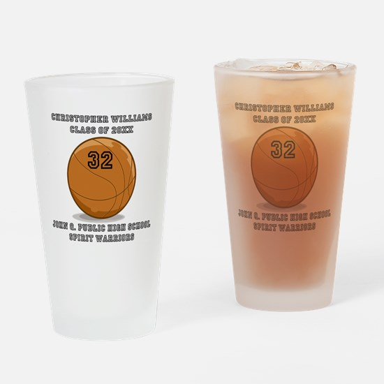 Custom Basketball Player Name | Num Drinking Glass