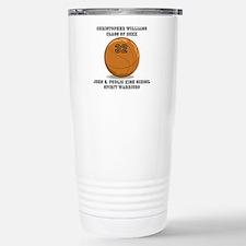 Custom Basketball Playe Stainless Steel Travel Mug