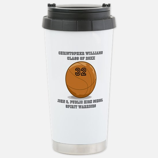 Custom Basketball Playe Stainless Steel Travel Mug