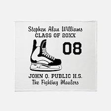 Custom Hockey Player Name | Number | Throw Blanket