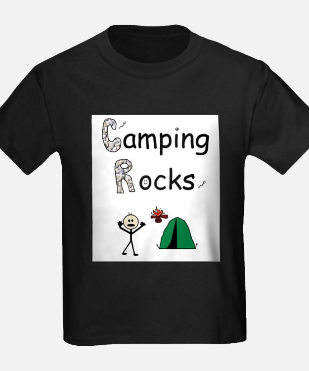 CAMPING ROCKS Ash Grey T-Shirt