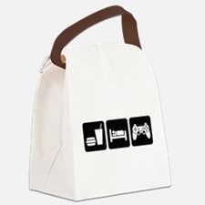 Eat Sleep Game Canvas Lunch Bag