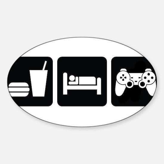Eat Sleep Game Sticker (Oval)