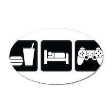 Eat Sleep Game Wall Sticker