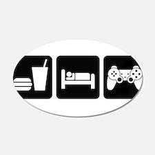 Eat Sleep Game Decal Wall Sticker