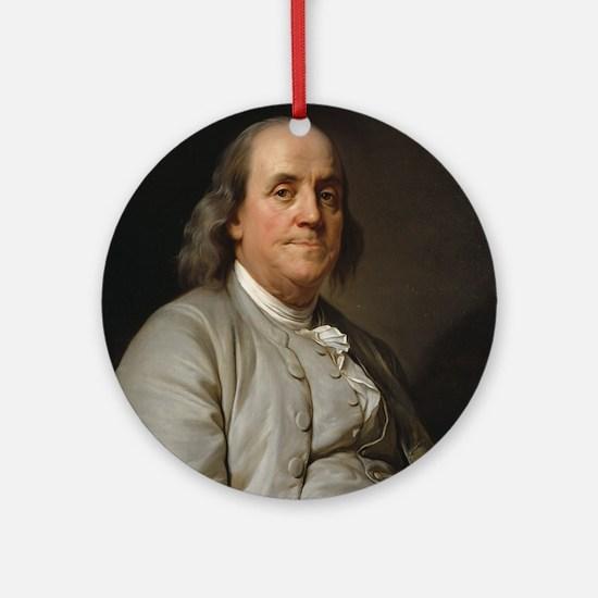 Ben Franklin Round Ornament