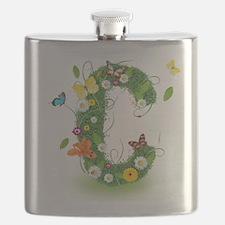 Monogram Letter C Flask