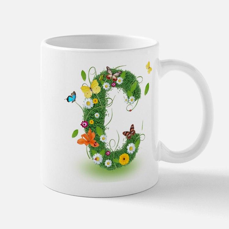 Monogram Letter C Mugs