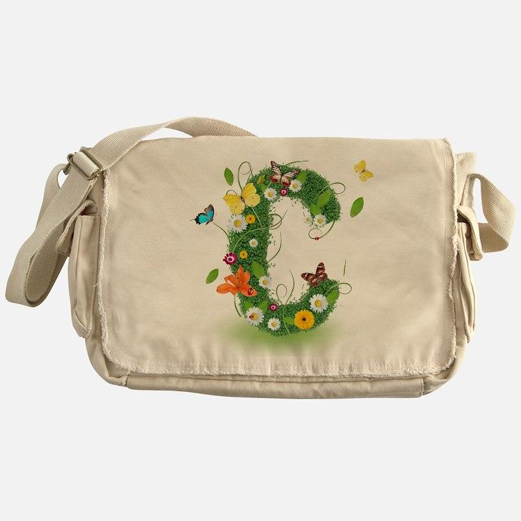 Monogram Letter C Messenger Bag