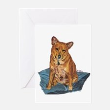 Unique Red heeler Greeting Card